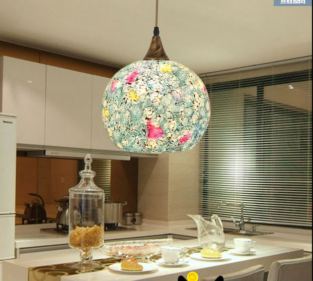 Impressive Variety Of Shell Light Shades Throughout Free Shipping Bohemian Style Blue Glass Shade Soft Light Shell (View 17 of 25)