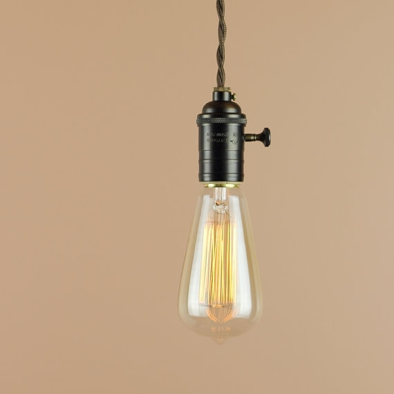 Impressive Wellknown Bare Bulb Cluster Pendants With Items Similar To Bare Bulb Pendant Light Edison Light Bulb (Image 12 of 25)