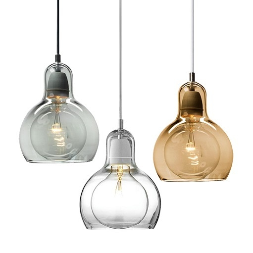 Impressive Wellknown Blown Glass Mini Pendant Lights In Minimal In Design With The Ball Typed Bulb Inspired Flair This (Image 15 of 25)