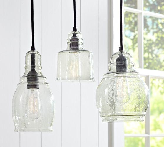 Impressive Wellknown Glass 8 Light Pendants Regarding Black Fabric Chords Blown Glass 8 Light Hanging Pendant (Image 16 of 25)
