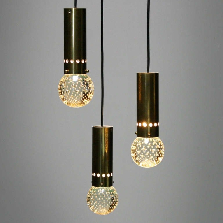 Impressive Well Known Three Pendant Lights With Three Pendant Lights Gino Sarfatti For Arteluce At 1stdibs (Image 15 of 25)