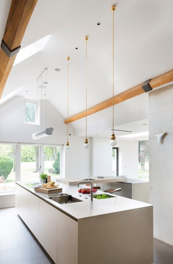 Impressive Well Known Vaulted Ceiling Pendant Lights With Regard To Kitchen Lighting Vaulted Ceiling Eiforces (Image 10 of 25)