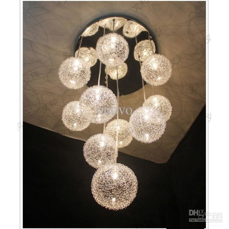 Impressive Well Known Wire Ball Pendant Lights For 10 Heads Glass Aluminum Wire Glass Balls Living Room Ceiling (Image 17 of 25)