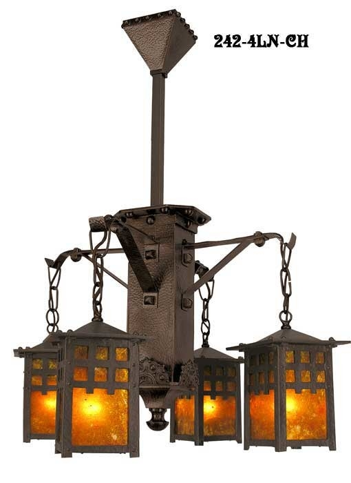 Impressive Wellliked Mission Style Pendant Lighting Throughout Vintage Hardware Lighting Arts And Crafts Craftsman And (Image 14 of 25)