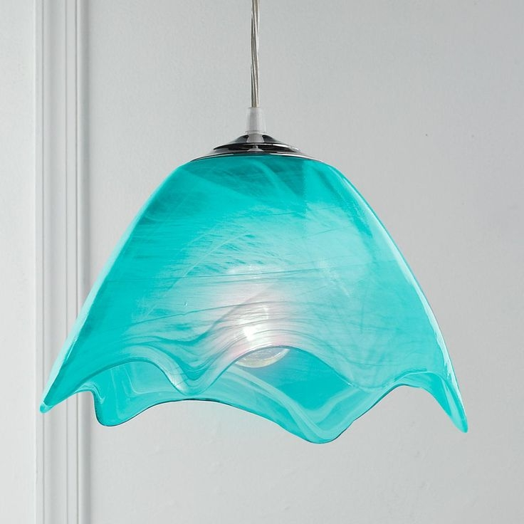 Impressive Wellliked Turquoise Blue Glass Pendant Lights Regarding 41 Best Fused Glass Lights Images On Pinterest (Image 17 of 25)