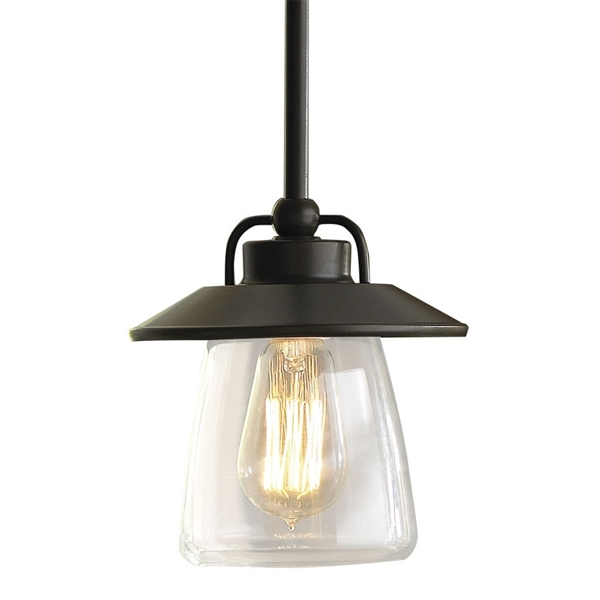 Impressive Widely Used Allen And Roth Pendant Lights Intended For Allen Roth Bristow Mini Pendant Light With Clear Shade Lowes (Image 10 of 25)