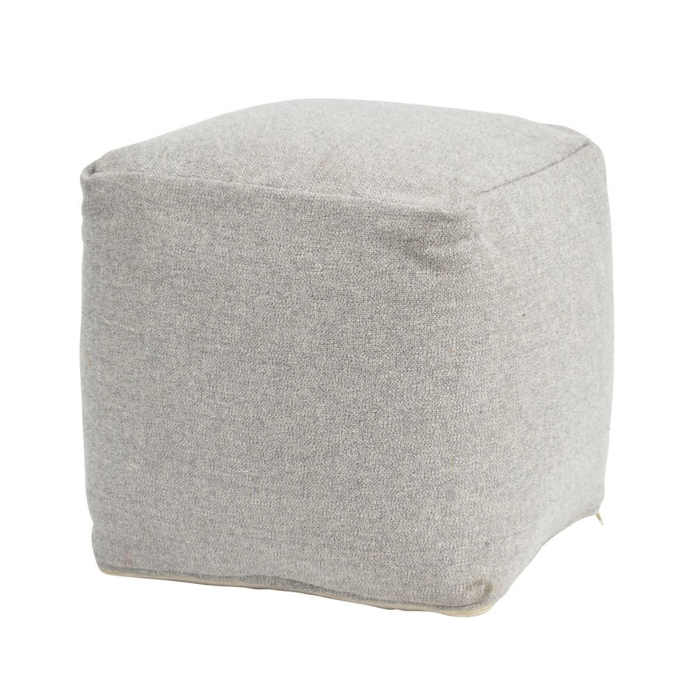 Inca Grey Pouffe Azura Home Style With Regard To Pouffes And Footstools For Sale (Image 9 of 15)