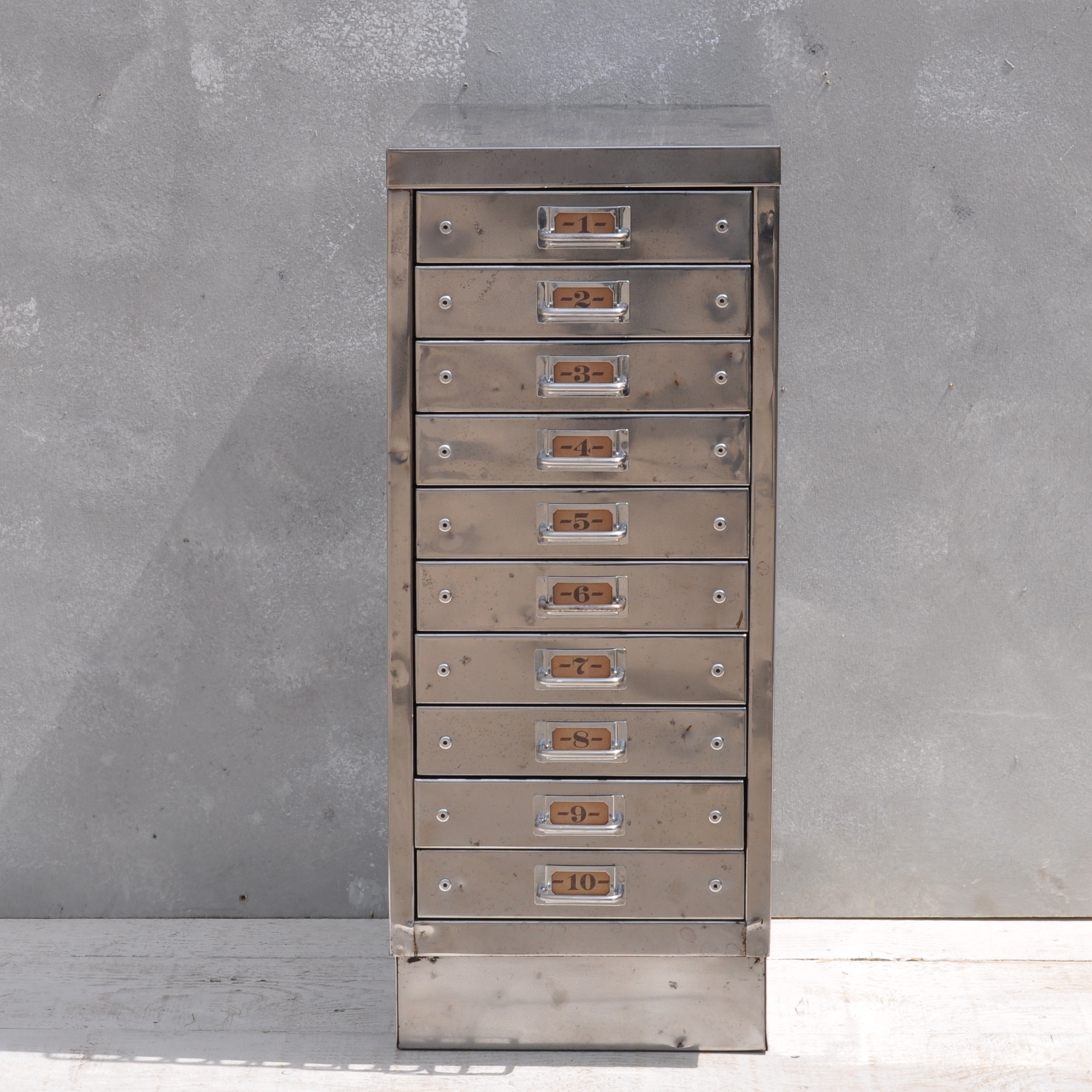 Industrial Steel Filing Cabinet 10 Drawer Regarding Filing Cupboards (Image 18 of 25)