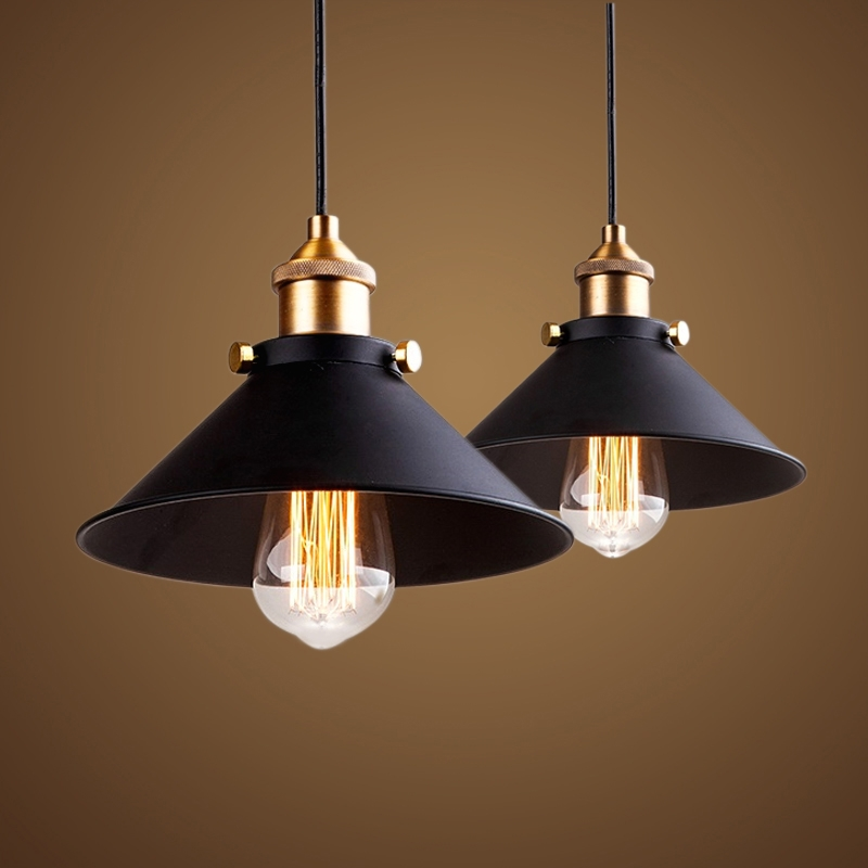 Innovative Best Retro Pendant Lights For Aliexpress Buy Black Vintage Industrial Pendant Light Nordic (Image 15 of 25)