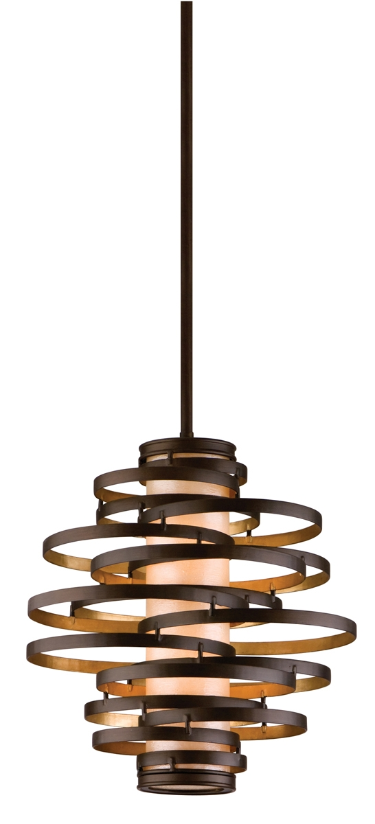 Innovative Brand New Corbett Vertigo Medium Pendant Lights Intended For Corbett Lighting 113 42 Vertigo 2 Light Small Pendant Shown In (View 12 of 25)