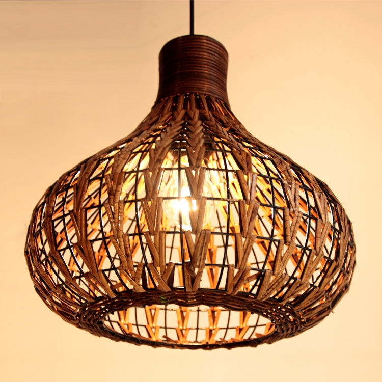 Innovative Brand New Rattan Pendant Light Fixtures Within Compare Prices On Wicker Light Fixtures Online Shoppingbuy Low (Image 18 of 25)