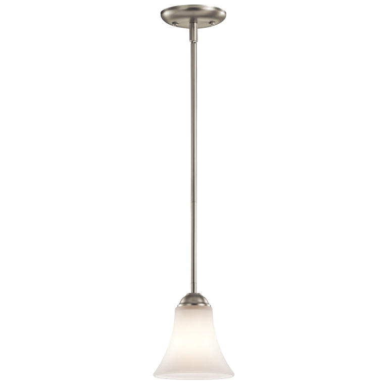 Innovative Common Pendant Lighting Brushed Nickel Within Kichler 43511ni Keiran Brushed Nickel Finish 675 Tall Mini (Image 16 of 25)