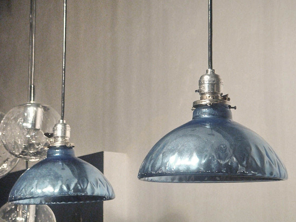 Featured Image of Blue Mercury Glass Pendant Lights