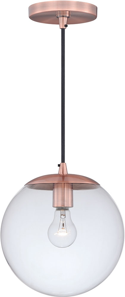 Innovative Deluxe Copper Mini Pendant Lights Throughout Vaxcel P0165 630 Series Modern Copper Mini Pendant Light Fixture (Image 14 of 25)