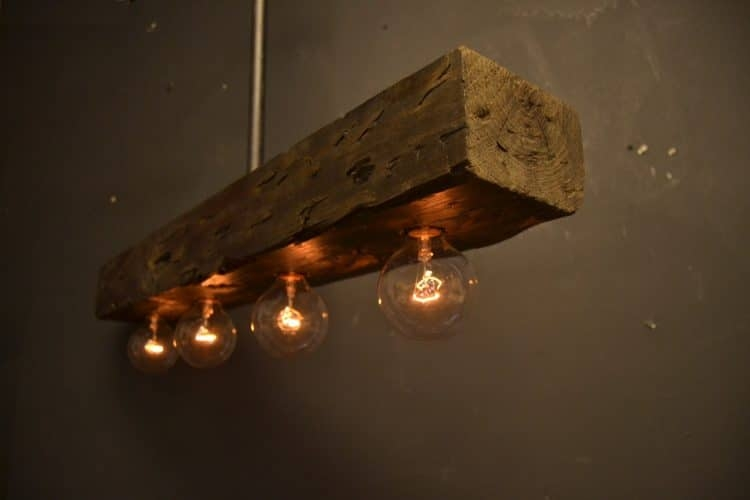 Innovative Deluxe Reclaimed Pendant Lighting Throughout Reclaimed Wood Chandelier Light Fixture Id Lights (Image 19 of 25)