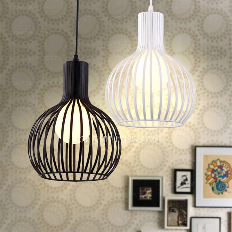 Innovative Elite Birdcage Pendant Lights Intended For Creative Painting Birdcage Pendant Light Wrought Iron (Image 18 of 25)
