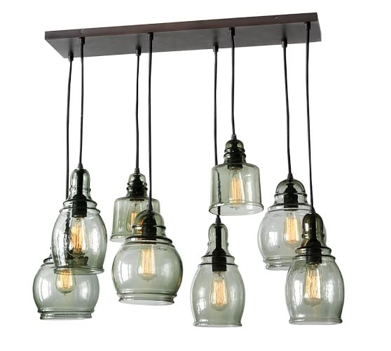 Featured Image of Glass 8 Light Pendants