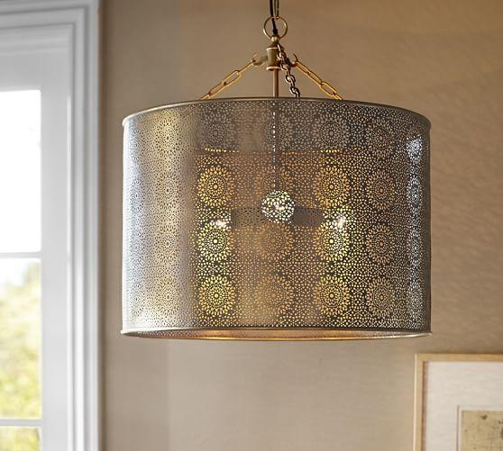 Innovative Elite Moroccan Punched Metal Pendant Lights With Kasbah Punched Metal Pendant Light (View 17 of 25)