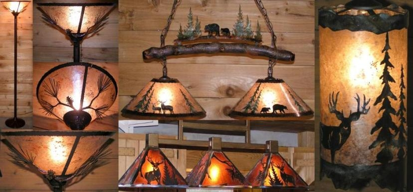 Innovative Elite Rustic Lighting Throughout Rustic Lighting Country Mountain Lodge Mica Designs (Image 16 of 25)