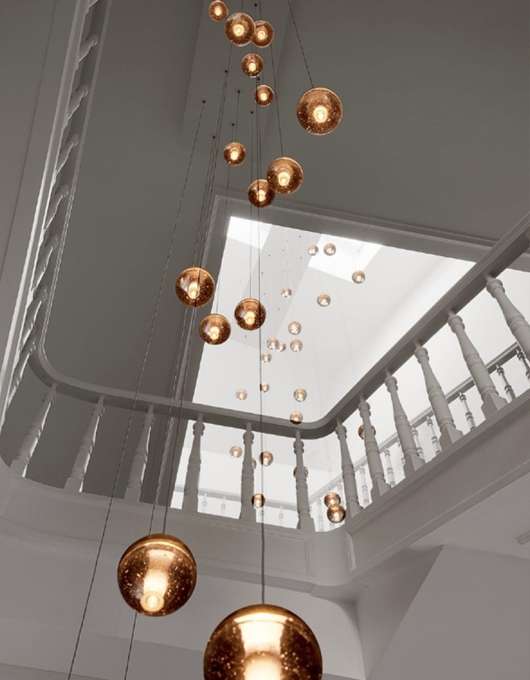 Innovative Elite Stairwell Pendant Lights Throughout 37 Stairwell Lighting Chandelier Lighting Large Bubble Crystal (Image 17 of 25)