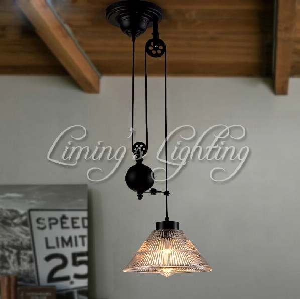 Innovative Famous Adjustable Pulley Pendant Lights In Popular Pulley Pendant Light Buy Cheap Pulley Pendant Light Lots (Image 16 of 25)