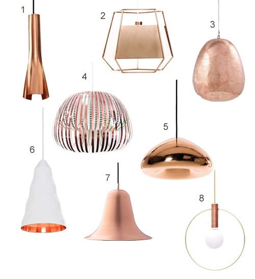 Innovative Famous Copper Pendant Lights Throughout Get The Look 15 Modern Copper Pendant Lights (Image 16 of 25)