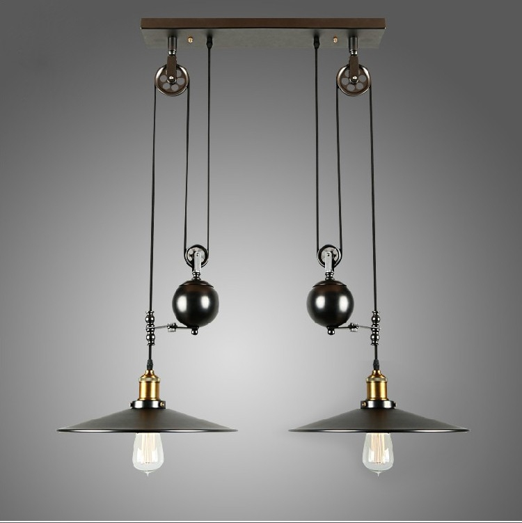 Innovative Famous Pulley Pendant Lights Within Popular Pulley Pendant Light Buy Cheap Pulley Pendant Light Lots (Image 14 of 25)