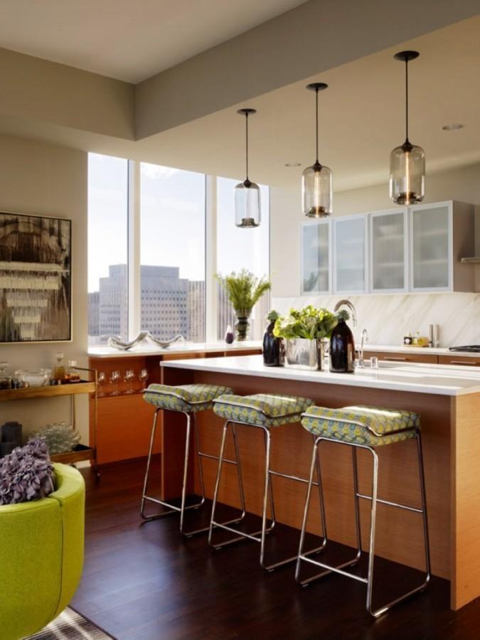 Innovative Fashionable Green Kitchen Pendant Lights In 10 Amazing Kitchen Pendant Lights Over Kitchen Island Rilane (Image 16 of 25)