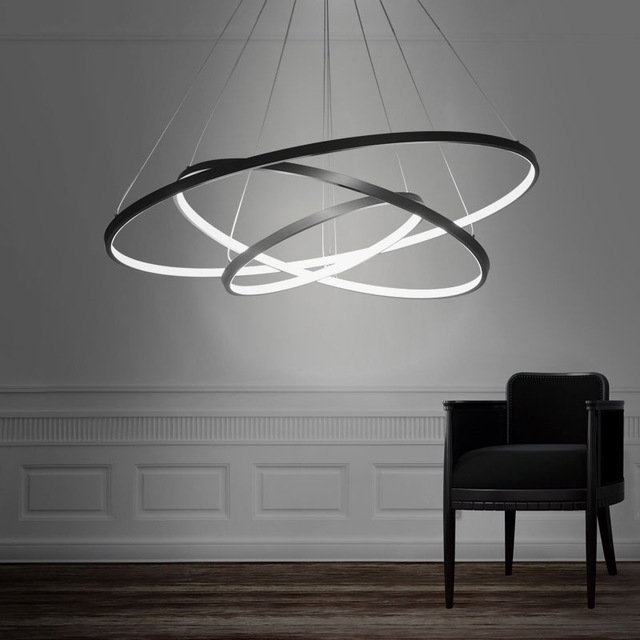 Innovative Fashionable Latest Pendant Lights Regarding Latest Arrival 90w Pendant Light Modern Design Led Three Rings (View 19 of 25)