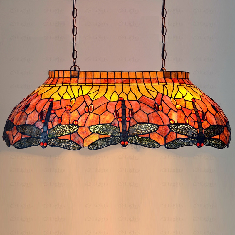 Innovative Fashionable Stained Glass Pendant Light Patterns Within End Stained Glass Pendant Lighting Dragonfly Pattern (View 14 of 25)