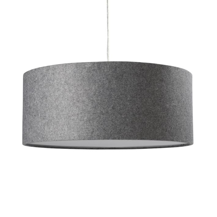 Innovative Fashionable West Elm Drum Pendants Inside Short Drum Pendant Gray Felt West Elm (Image 14 of 25)