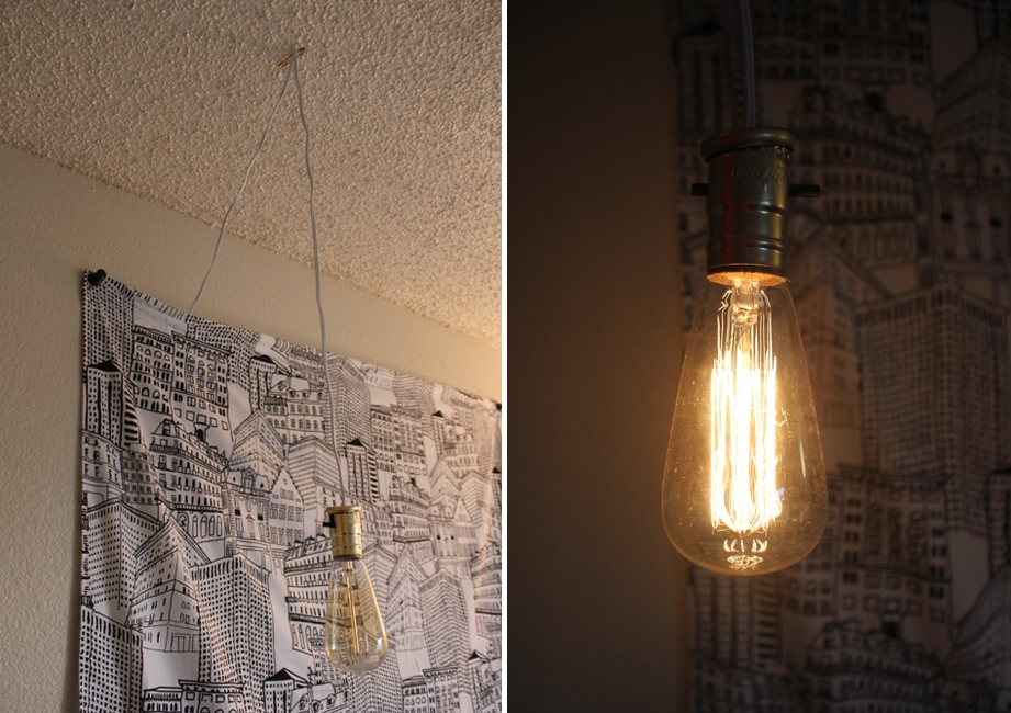 Innovative Favorite Bare Bulb Hanging Light Fixtures Pertaining To Simple Diy Exposed Hanging Light Bulb (Image 16 of 25)