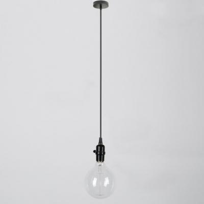 Innovative Favorite Industrial Bare Bulb Pendant Lights Intended For Industrial Style Black Bare Bulb Mini Pendant Light (Image 17 of 25)