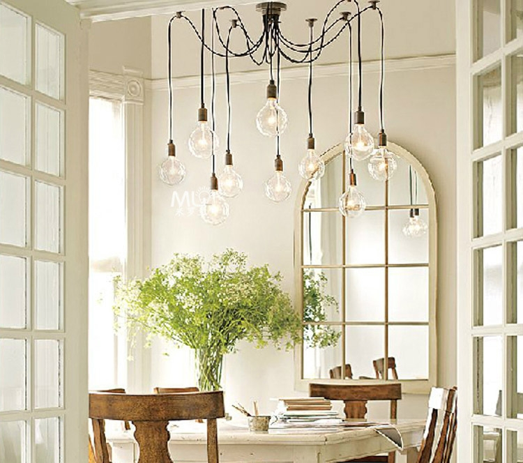 Innovative Favorite Matching Pendant Lights And Chandeliers With Loft American Vintage Pendant Lights Restaurantbedroombar Lamp (Image 13 of 25)