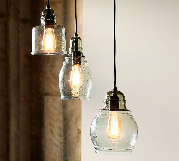 Innovative Favorite Paxton Glass 3 Pendant Lights With Paxton Glass 3 Light Pendant Pottery Barn (Image 19 of 25)