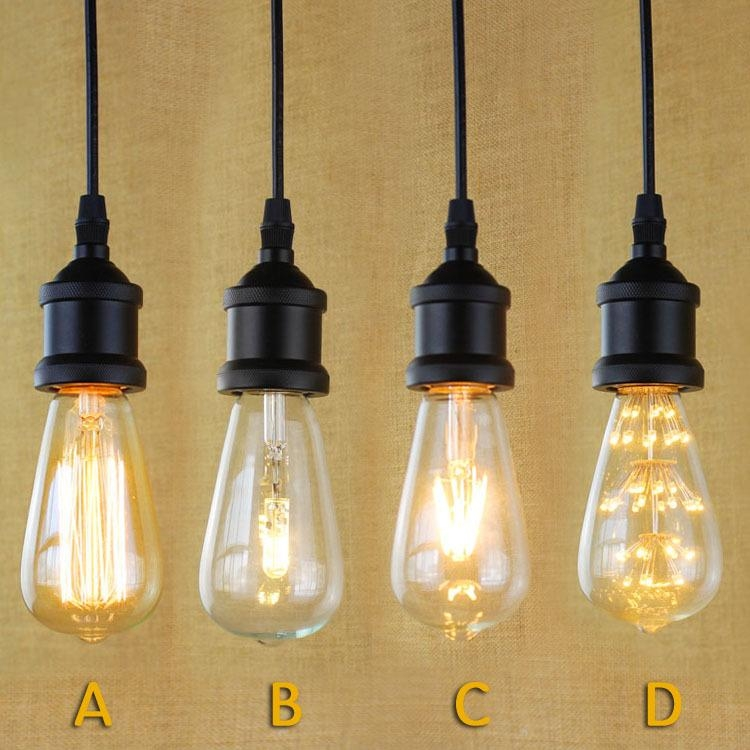 Innovative Favorite Pendant Light Edison Bulb Throughout Black Pendant Lighting Industrial Edison Mini Pendant Hanging Lamp (Image 19 of 25)