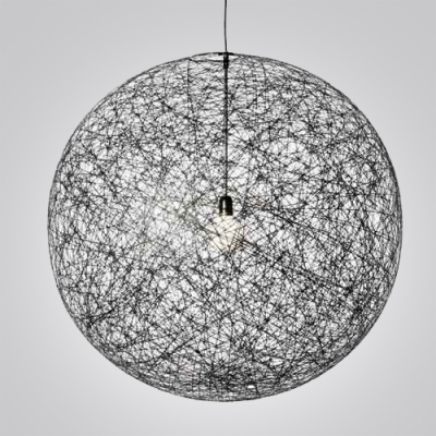 Innovative Favorite Wire Ball Light Pendants Pertaining To Fashion Style Linen Ball Entry Way Foyer Lighting (Image 16 of 25)