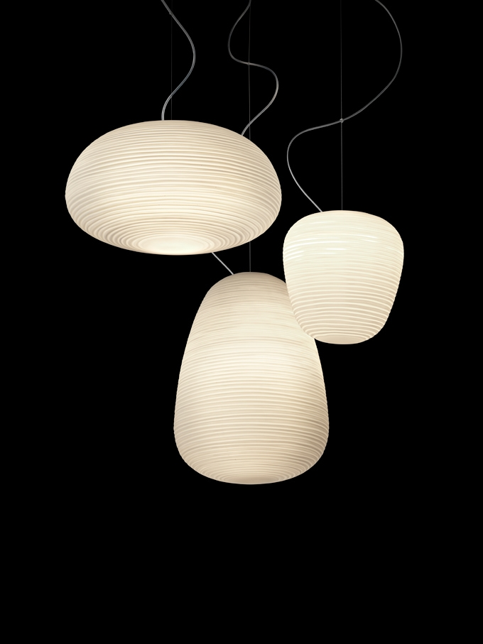 Innovative High Quality Paper Pendant Lamps With Regard To Reinterpreted Japanese Rice Paper Lanterns Rituals Foscarini (Image 18 of 25)
