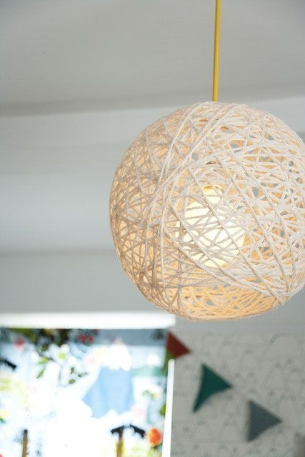 Innovative Latest Diy Yarn Pendant Lights Within 32 Best Diy Lighting Images On Pinterest (Image 15 of 25)