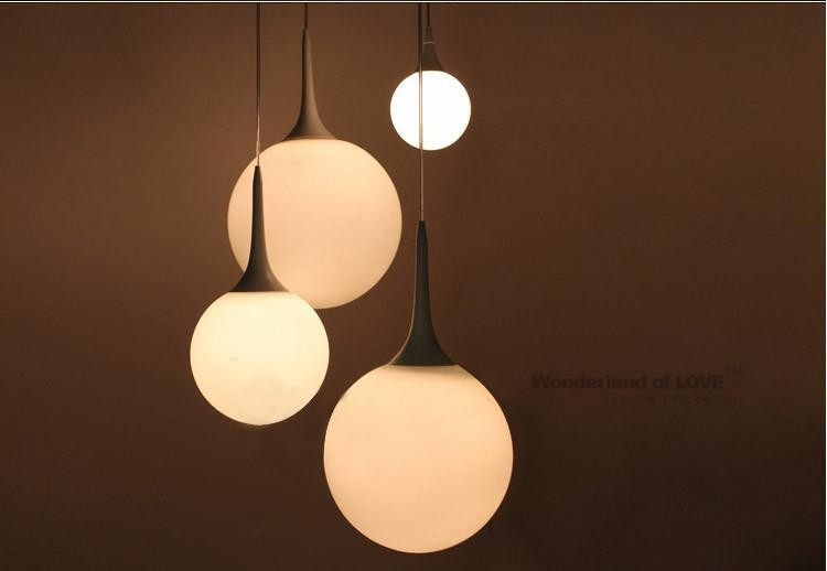 Innovative Latest Milk Glass Pendant Lights Throughout Compare Prices On Glass Globe Pendant Lighting Online Shopping (Image 15 of 25)