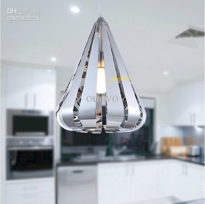 Innovative Latest Stainless Steel Pendant Lights Regarding Pendant Lamp Stainless Steel Water Drop Pendant Light New Modern (Image 17 of 25)