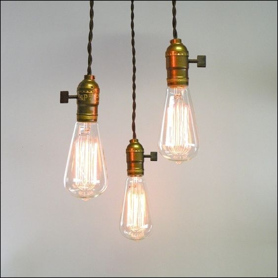 Innovative Latest Three Light Bare Bulb Pendants Pertaining To Pinterest The Worlds Catalog Of Ideas (Image 16 of 25)