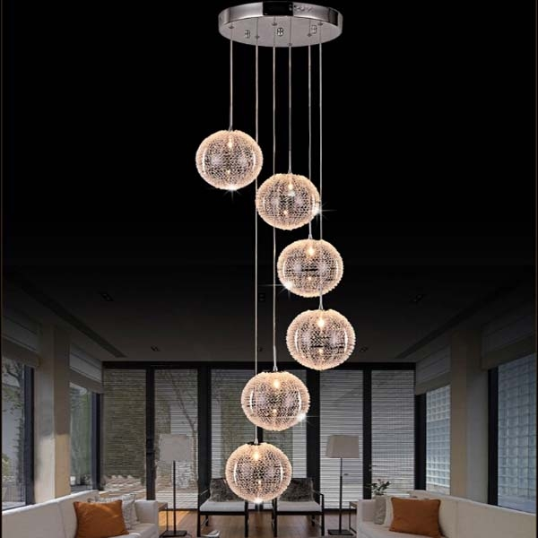 Innovative New Stairwell Lighting Pendants In Rotation Staircase Pendant Lights Artistic Nordic Duplex Lighting (Image 15 of 25)
