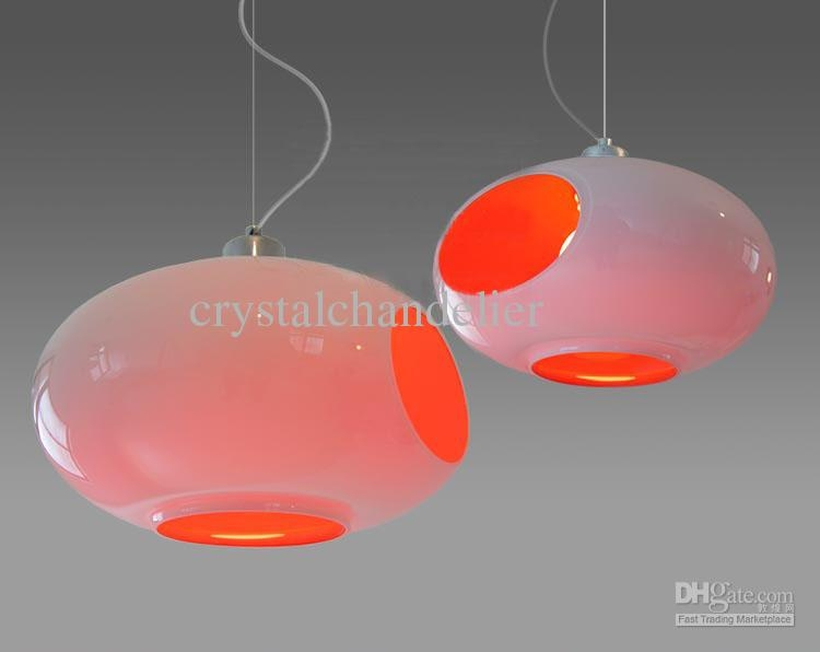Innovative Popular Modern Red Pendant Lighting Within Axo Ball Up Sp New Modern Red Glass Pendant Lights Hanging Lamps (Image 18 of 25)
