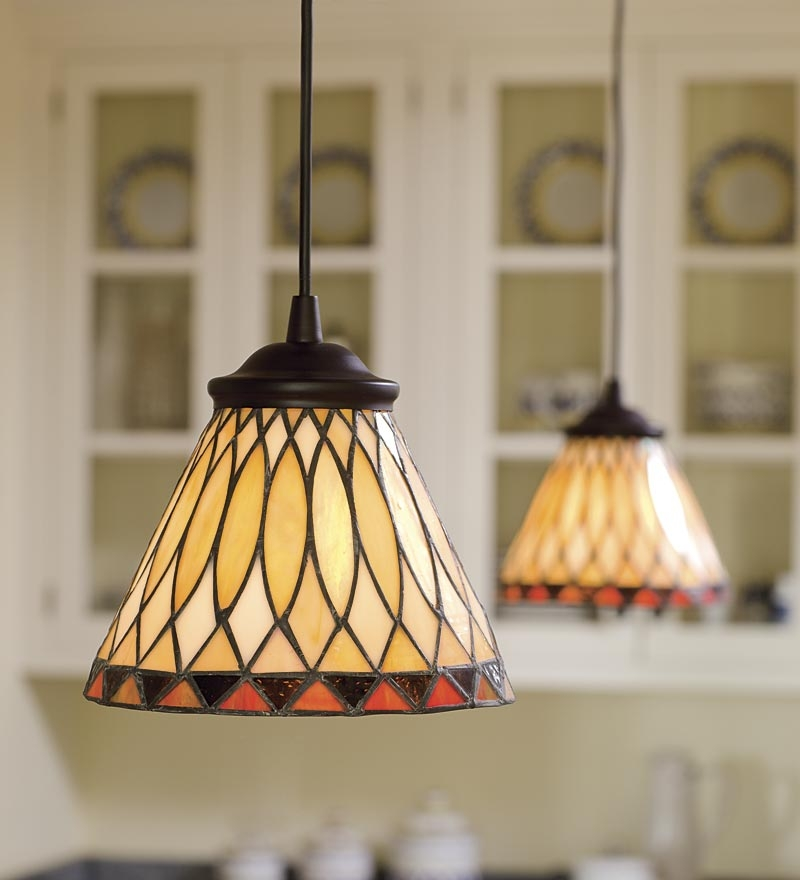 Innovative Popular Stained Glass Mini Pendant Lights Throughout Replace Any Recessed Light With This Screw In Stained Glass (Image 16 of 25)