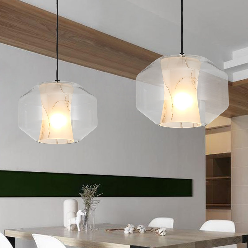 Innovative Preferred French Style Glass Pendant Lights Within French Designer Imitation Marble Glass Pendant Lights Modern (Image 17 of 25)