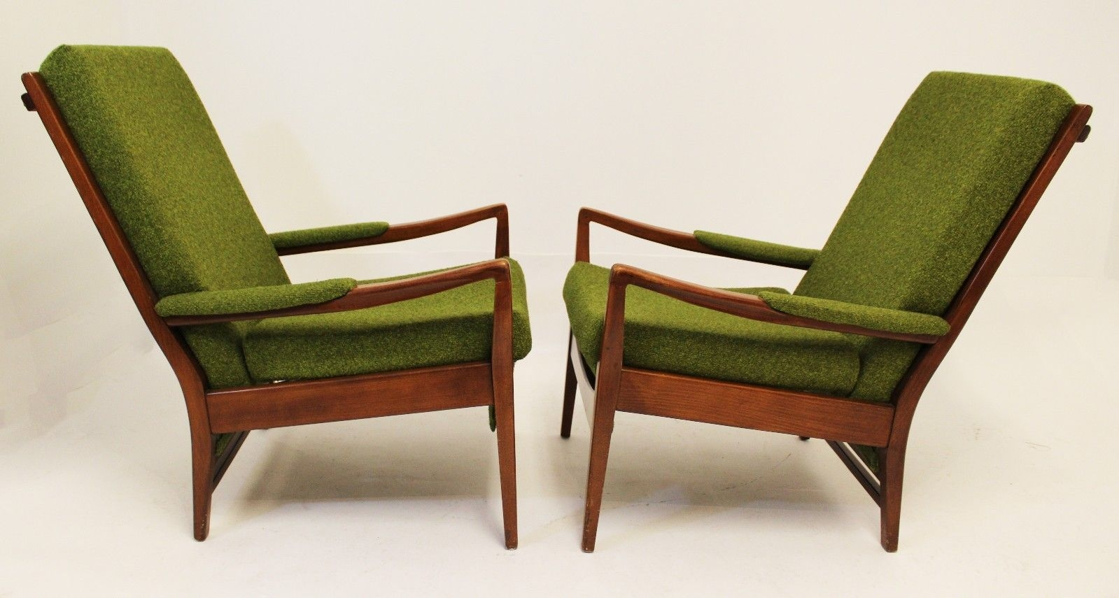 Innovative Premium Cintique Mid Century Armchairs In Mid Century Modern Pair Of Cintique Walnut Chairs English Larsen (Image 11 of 15)