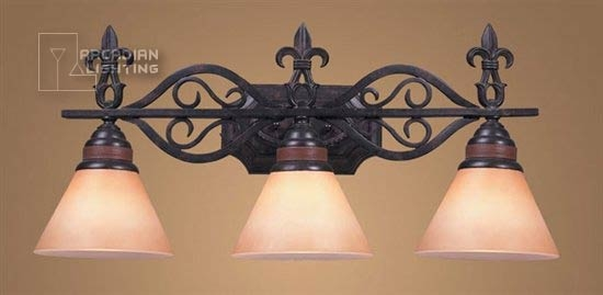 Innovative Premium Fleur De Lis Light Fixtures Throughout Elk Lighting 60733 Fleur De Lis Fleur De Lis Traditional Bathroom (Image 14 of 25)