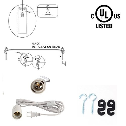 Innovative Premium Pendant Light Extension Kits Regarding Chic Pendant Light Pack Of 3 Soofoo Light Socket 115 Feet (Image 14 of 25)