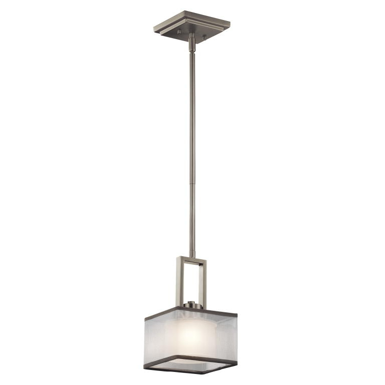 Innovative Premium Pendant Lighting Brushed Nickel Intended For Kichler 43442ni Kailey Contemporary Brushed Nickel Finish 6 Wide (Image 18 of 25)